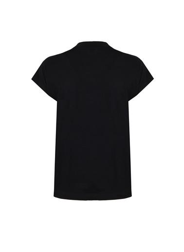 Deux Beautés Nina Balıkçı Yaka T-Shirt  Siyah